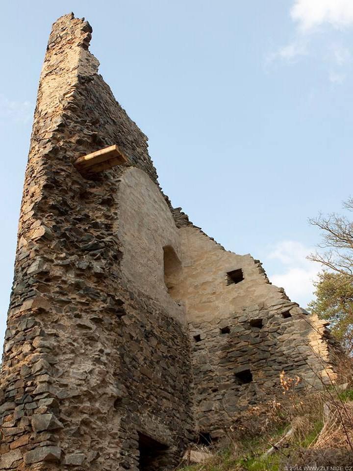 Hrad Zlenice - Velká věž