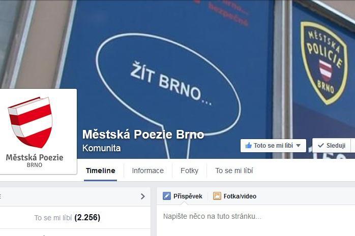 Facebooková stránka Městská poezie Brno