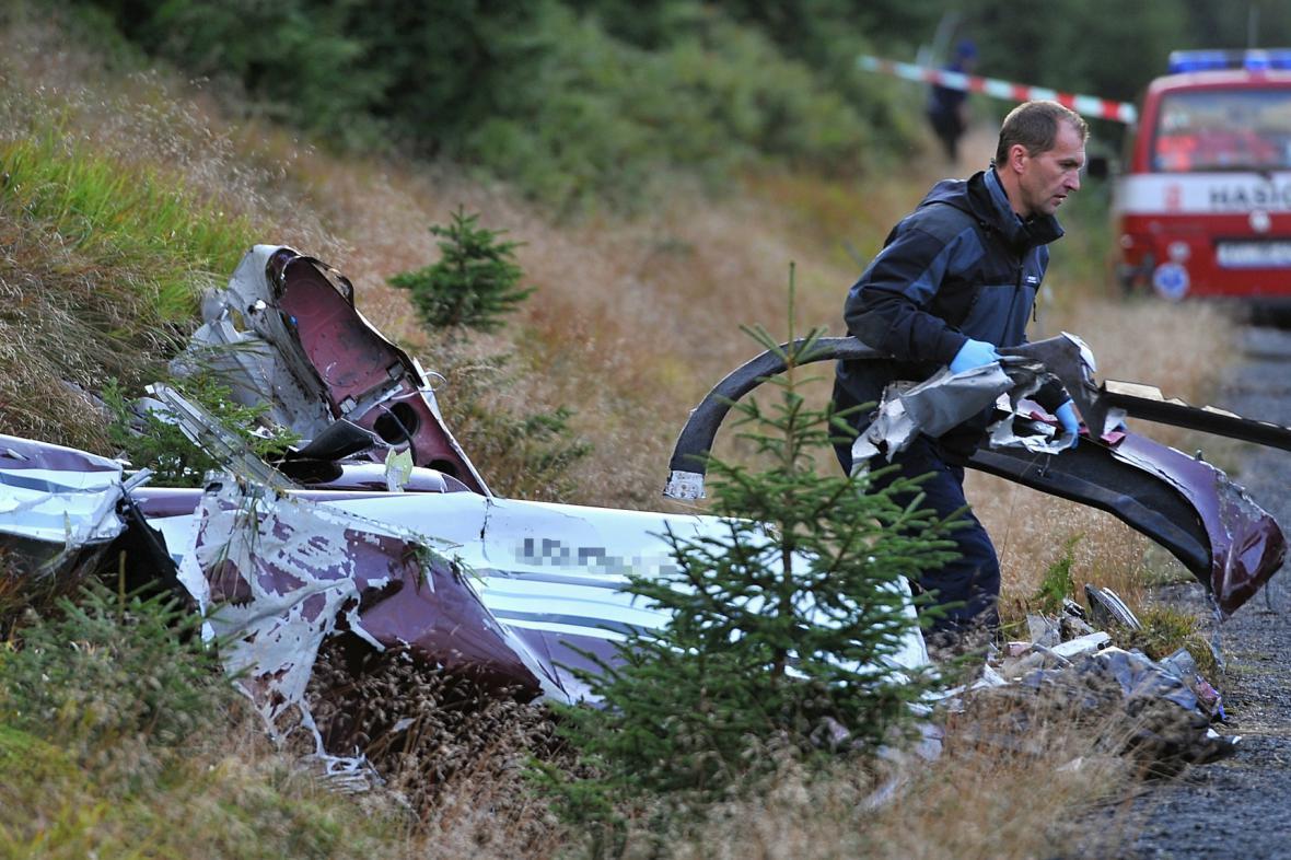 Na Šumavě se zřítilo německé sportovní letadlo