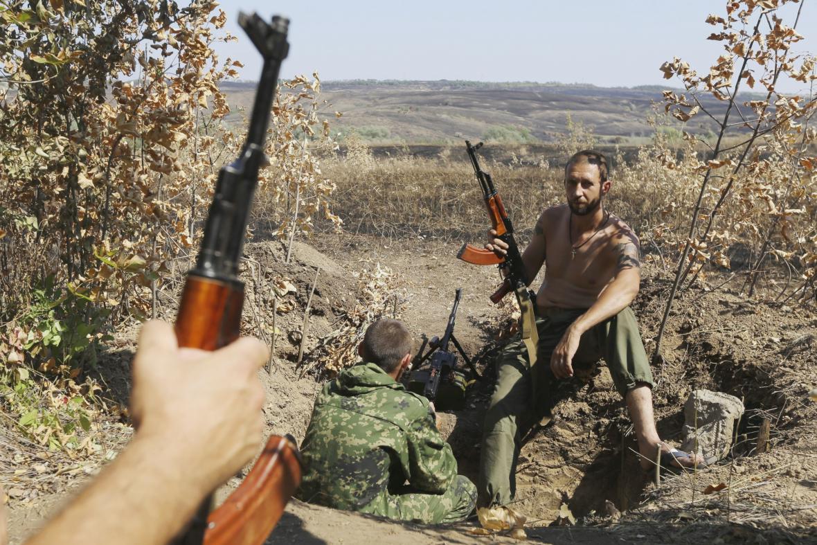 Proruští povstalci na východě Ukrajiny