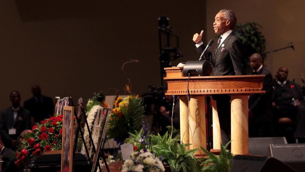 Reverend Al Sharpton při svém projevu