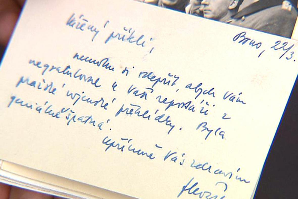 Dopis Františka Kožíka Františku Kocourkovi