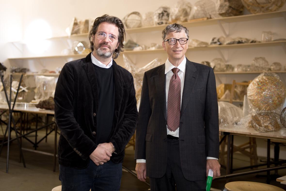 Olafur Eliasson s Billem Gatesem v Berlíně