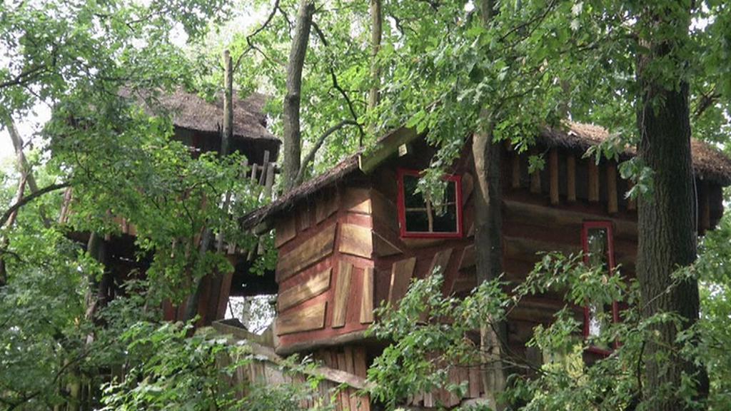 Hotel v korunách stromů na německo-polské hranici
