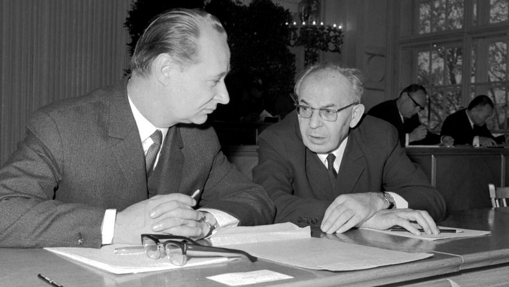Alexandr Dubček a Gustáv Husák