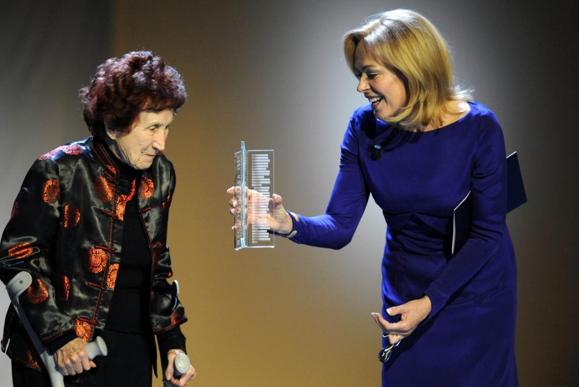 Bohumila Grögerová a Dagmar Havlová