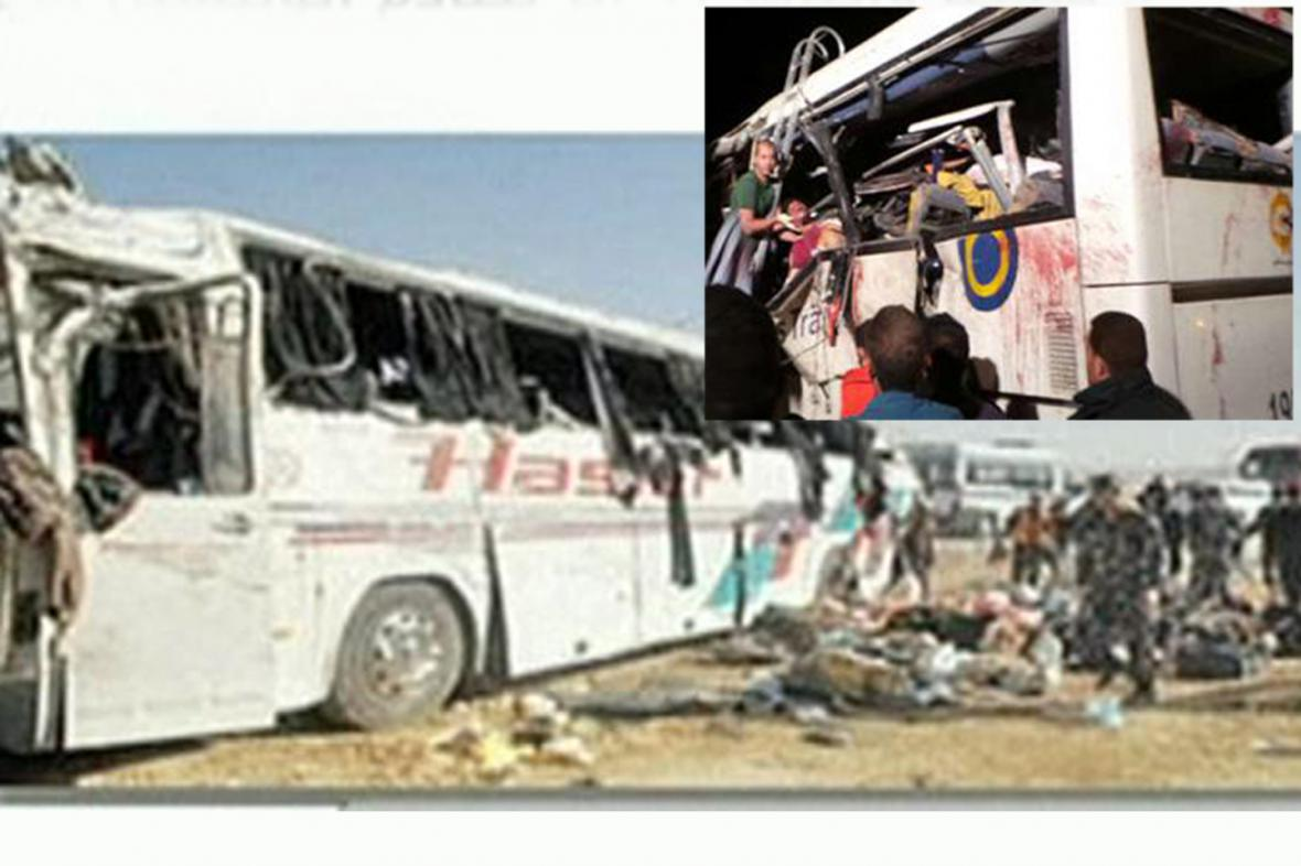 Havárie autobusu v Egyptě si vyžádala na 40 mrtvých