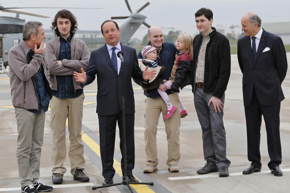 Propuštěné francouzské novináře přijal prezident a ministr zahraničí