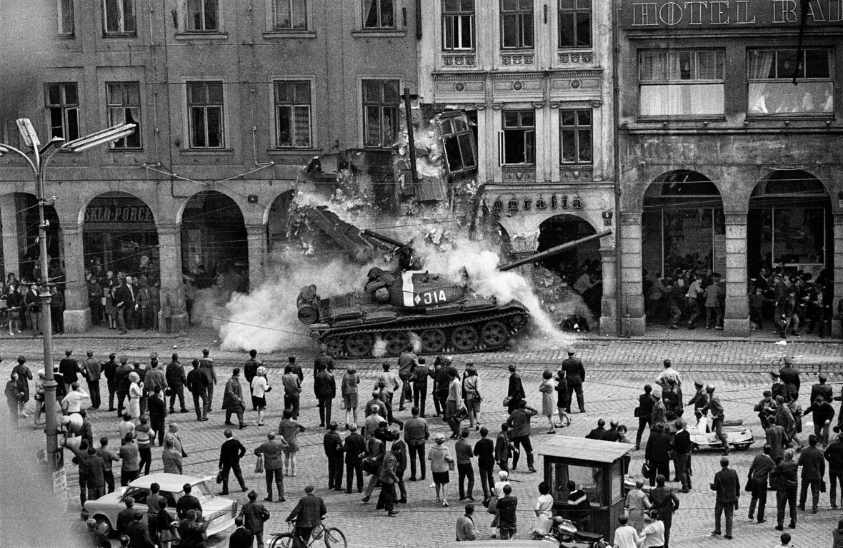 Fotografie Václava Toužimského z roku 1968