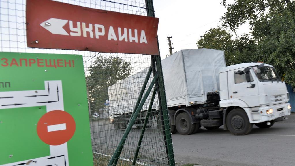 První kamiony se objevily u hraničního přechodu