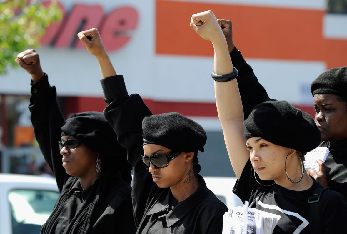 Členky radikální Nové strany černých panterů