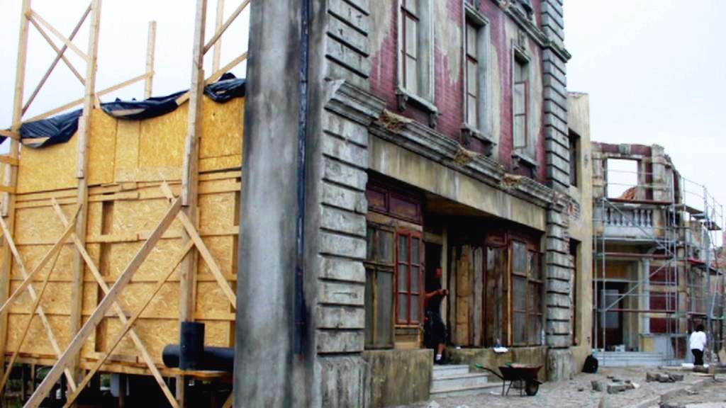 Přípravy natáčení v Lenešicích