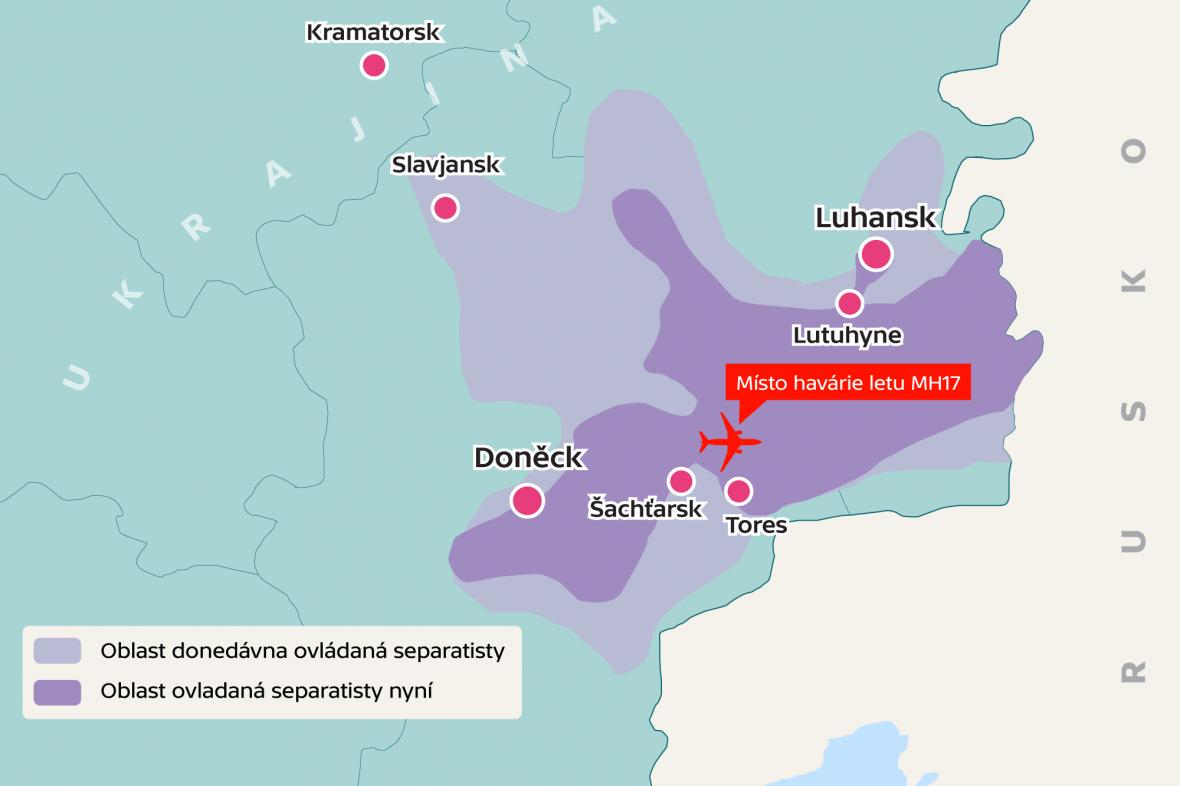 Oblasti ovládané separatisty