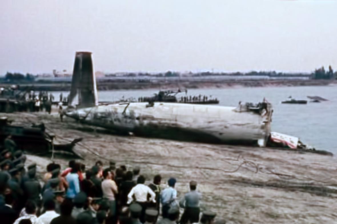 Zřícení letadla do jezera Zlaté písky