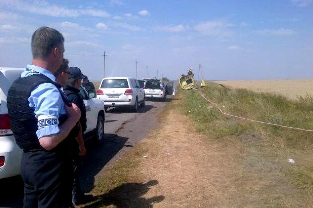 OBSE na místě havárie boeingu