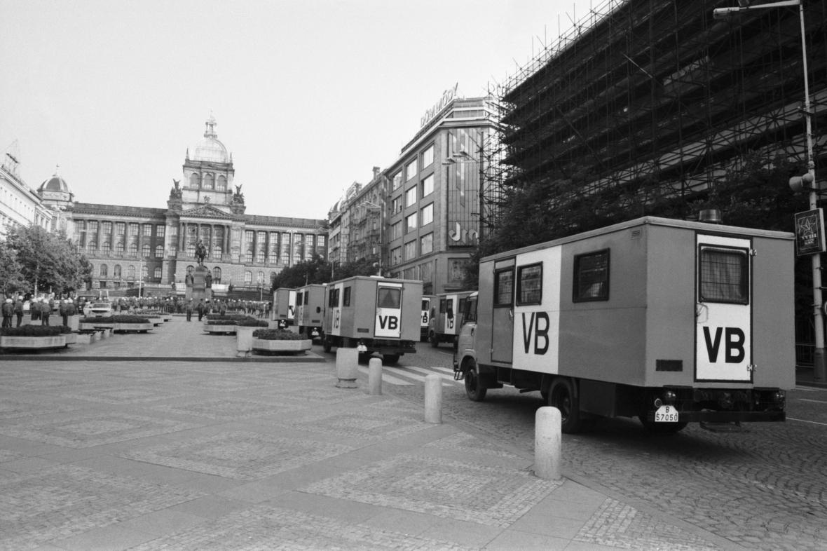 Václavské náměstí 21. srpna 1989