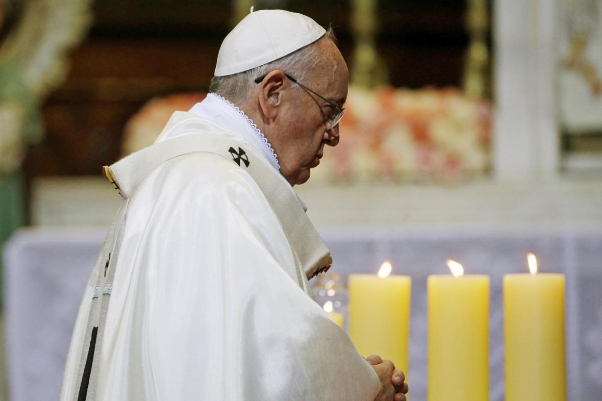 Papež František na mši v Soulu