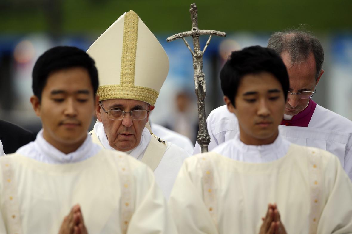 Papež František na návštěvě Jižní Koreje