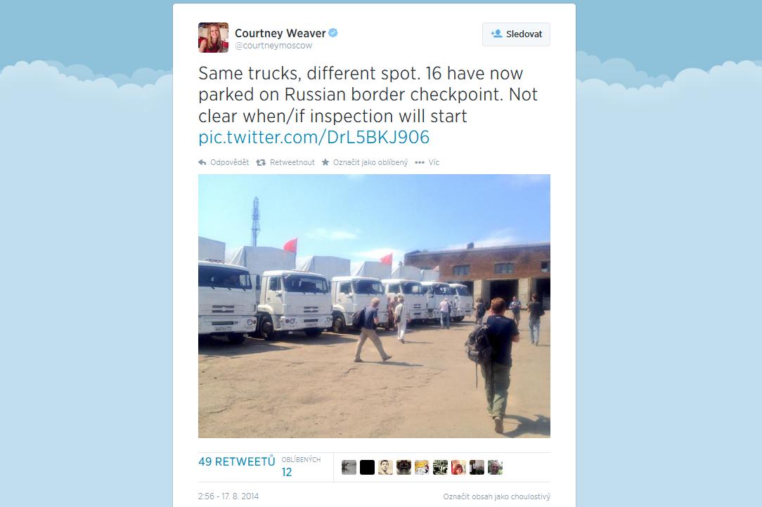 16 ruských kamionů už parkuje na ukrajinské hranici