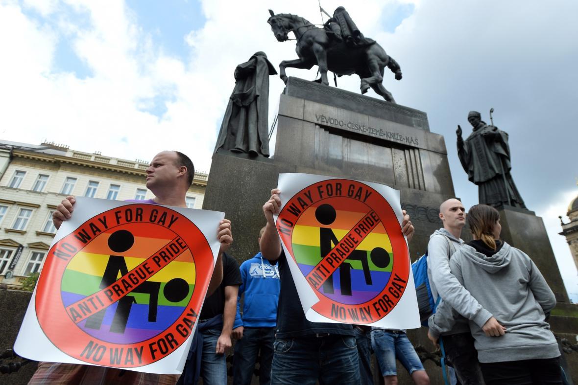 Odpůrci Prague Pride 2014