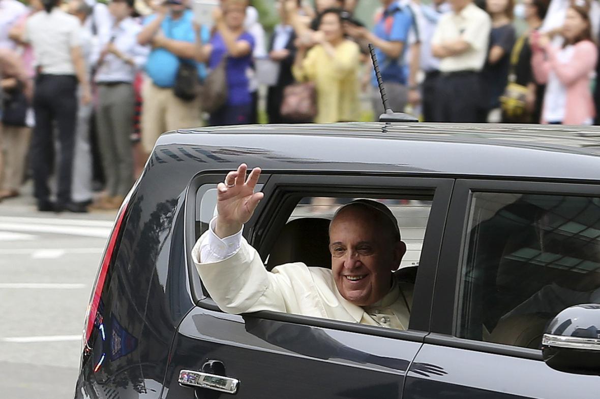 Papež František v Koreji