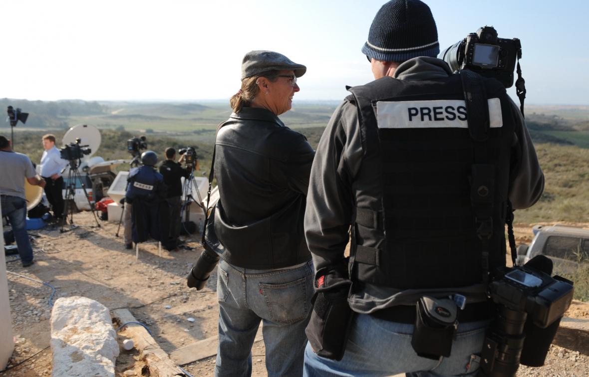 Novináři v Gaze
