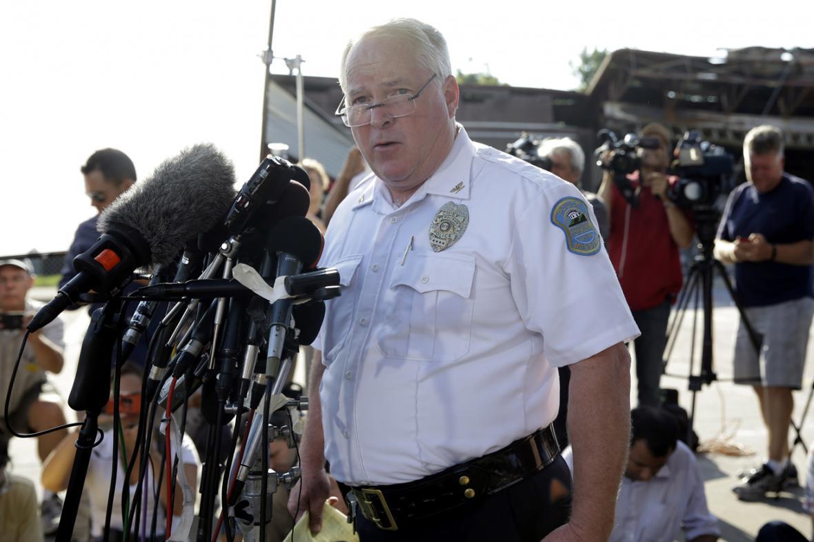 Šéf policejního sboru ve Fergusonu Thomas Jackson