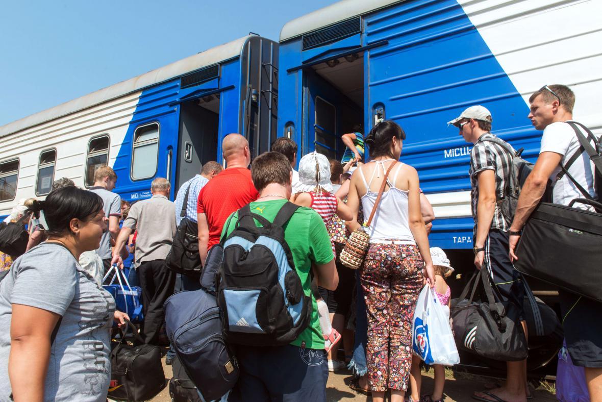 Uprchlíci z luhanského regionu