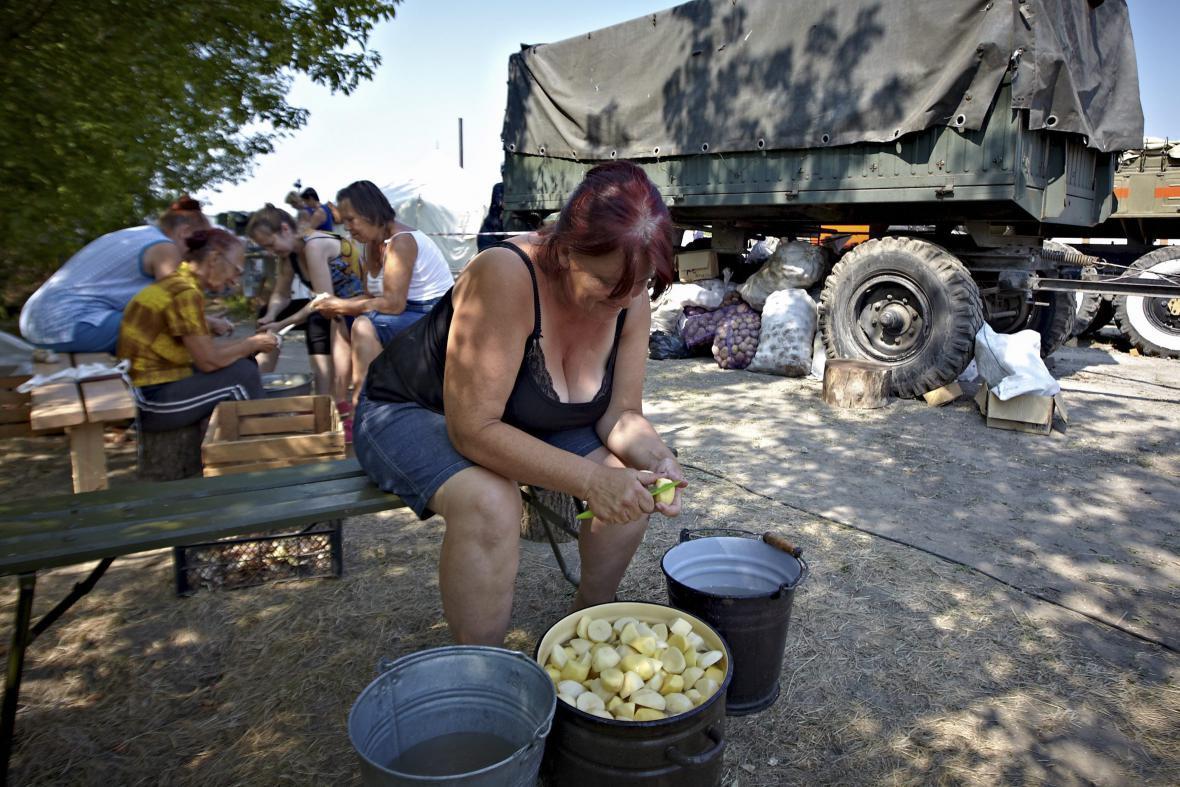 Uprchlíci z města Luhansk