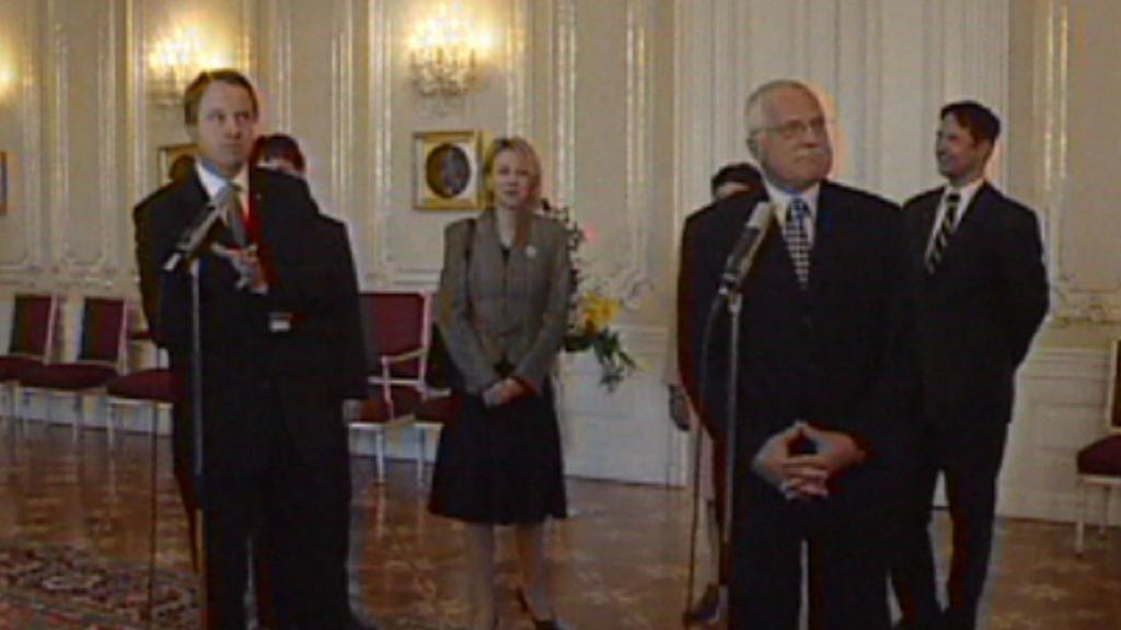 Martin Bursík a Václav Klaus v roce 2006