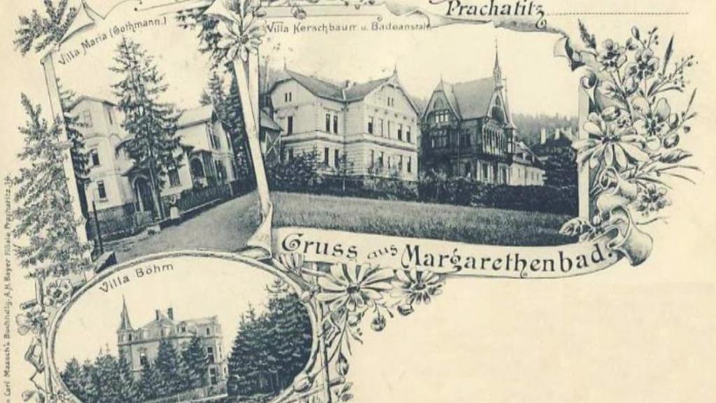 Lázně svaté Markéty v Prachaticích na začátku 20. století