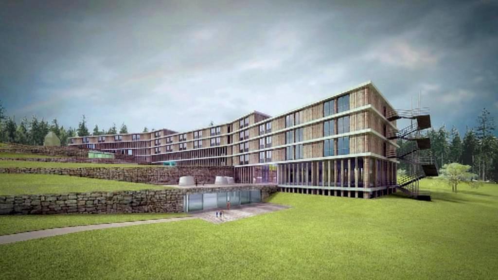 Vizualizace lázeňského komplexu v Prachaticích