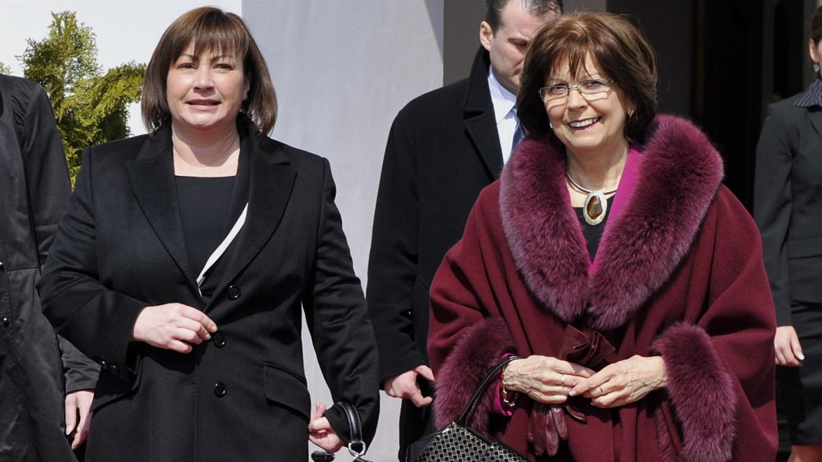 Ivana Zemanová a Silvia Gašparovičová