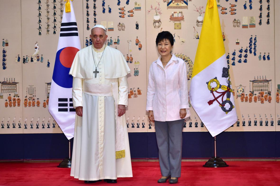Papež František a Pak Kun-hje