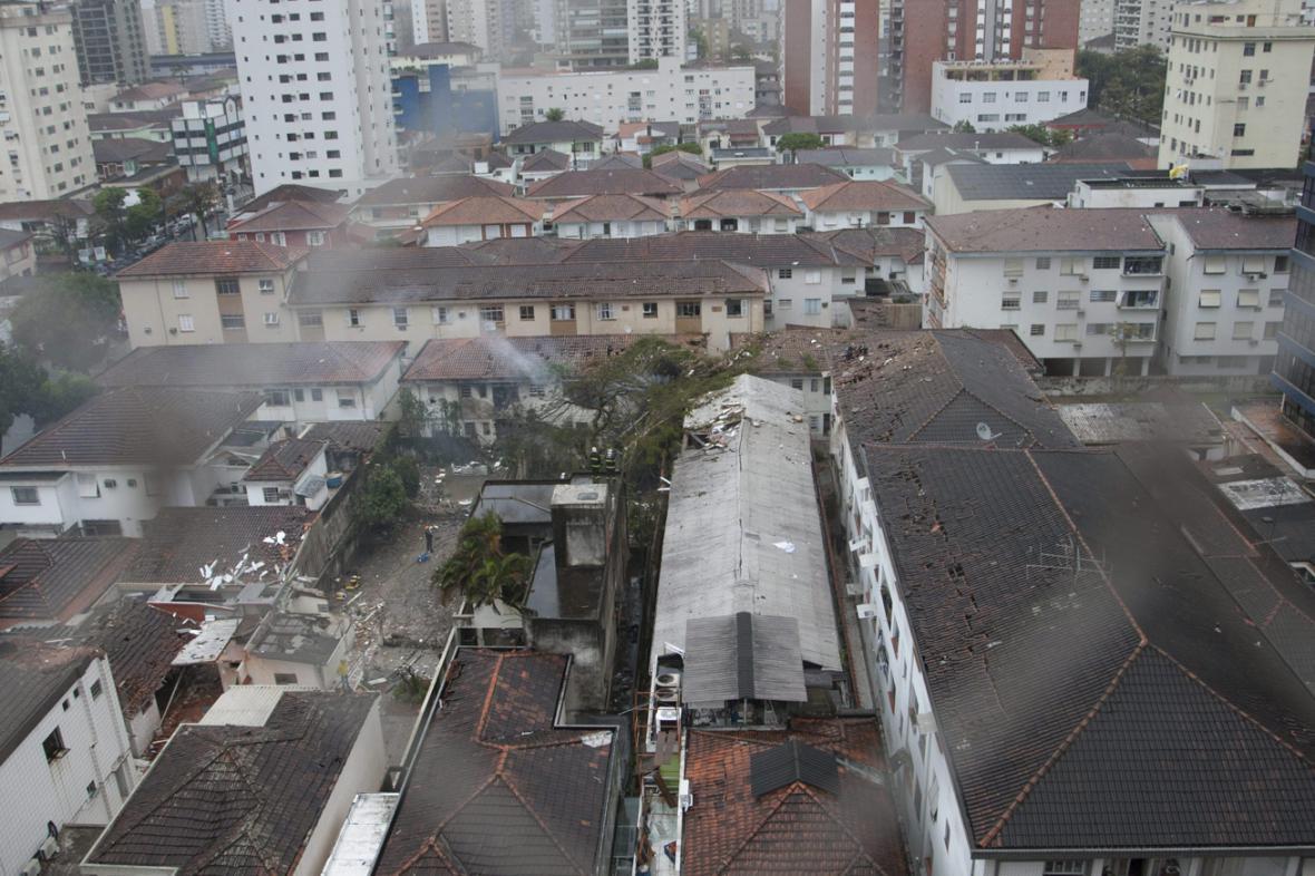 Místo pádu letadla Eduarda Campose