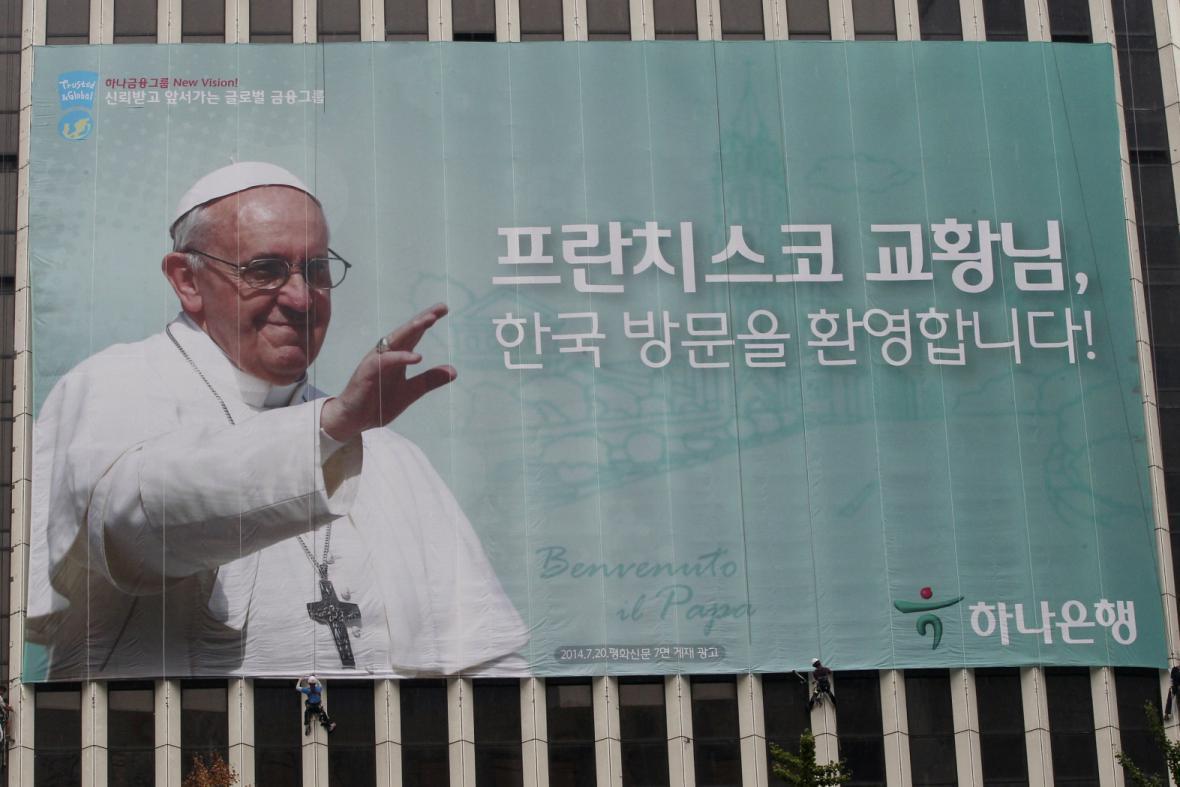 Jižní Korea se připravuje na příjezd papeže Františka