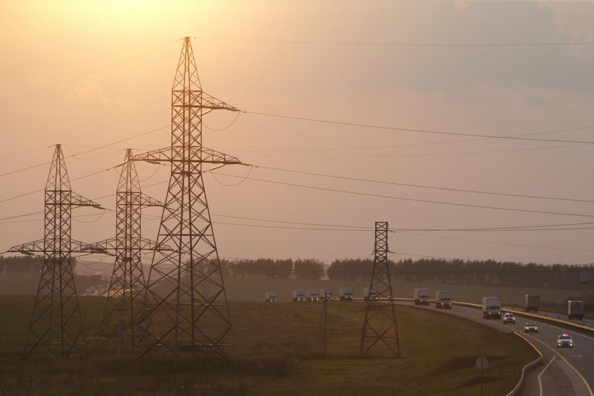 Ruský konvoj s humanitární pomocí pro Ukrajinu