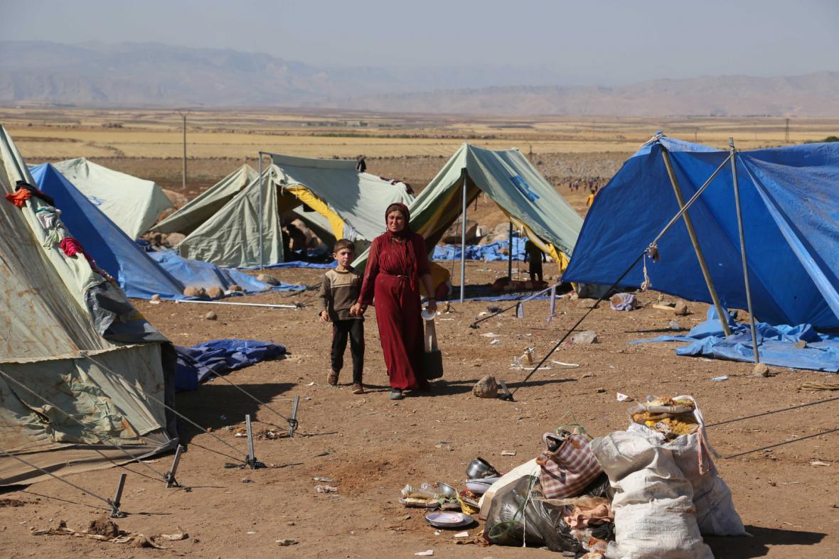 Uprchlický tábor pro jezídy