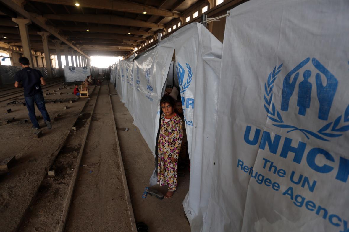 Uprchlický tábor u města Irbíl