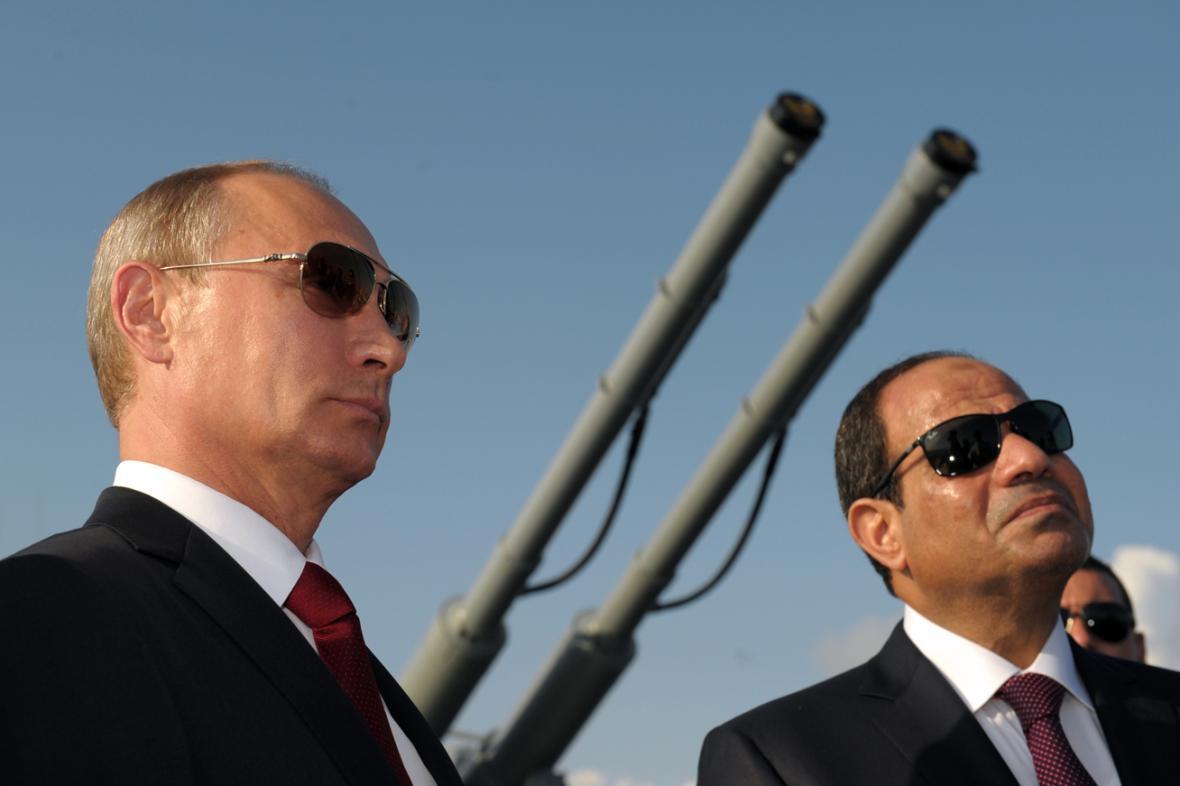 Vladimir Putin a Abdal Fattáh Sísí