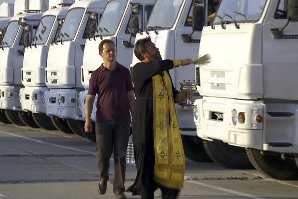 Žehnání ruskému konvoji