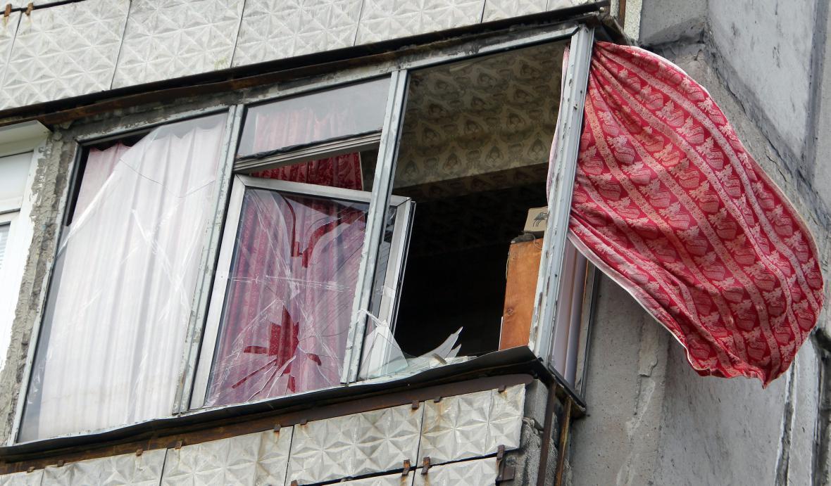 Důsledky bojů v Luhansku