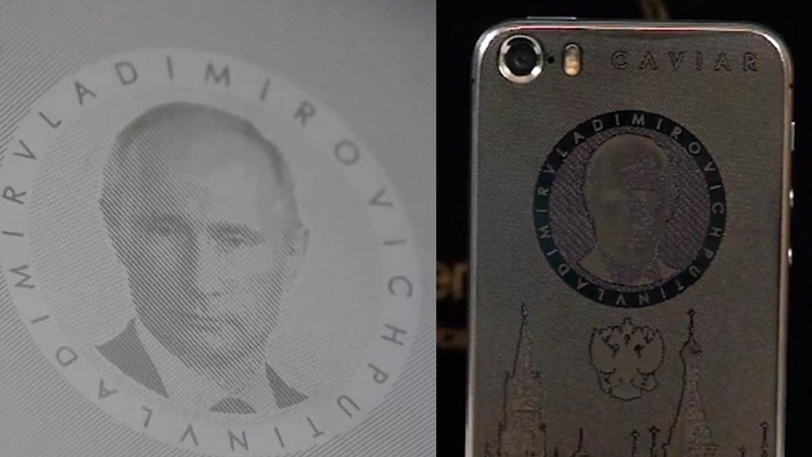 Vladimir Putin na mobilním telefonu