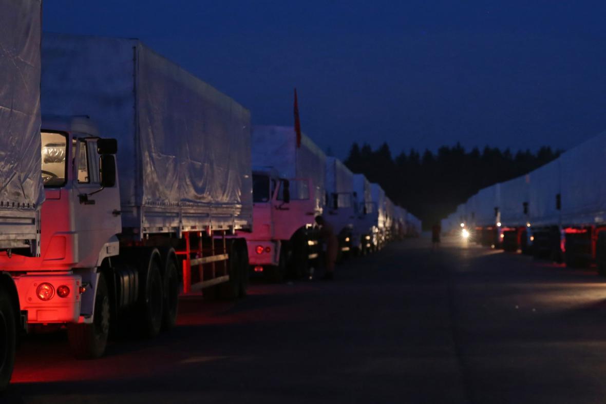 Ruský konvoj s humanitární pomocí