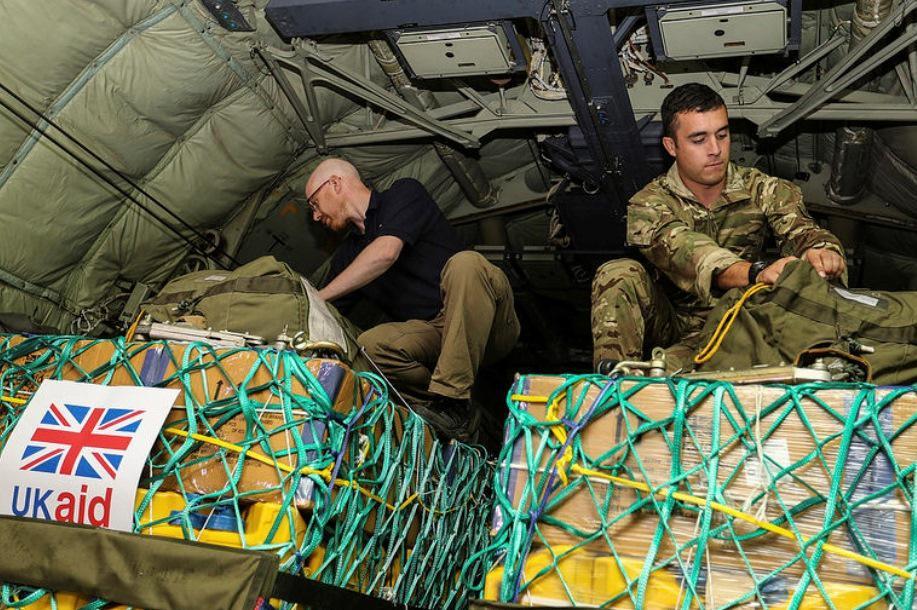 Britská humanitární pomoc směřující do Iráku