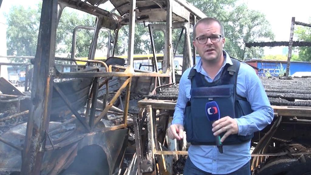 Zpravodaj ČT Josef Pazderka natáčel v Doněcku