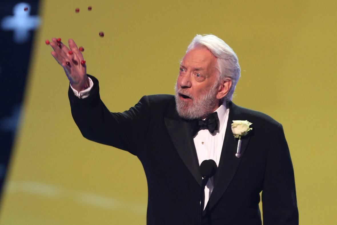 Donald Sutherland na večeru Teen Chois Awards