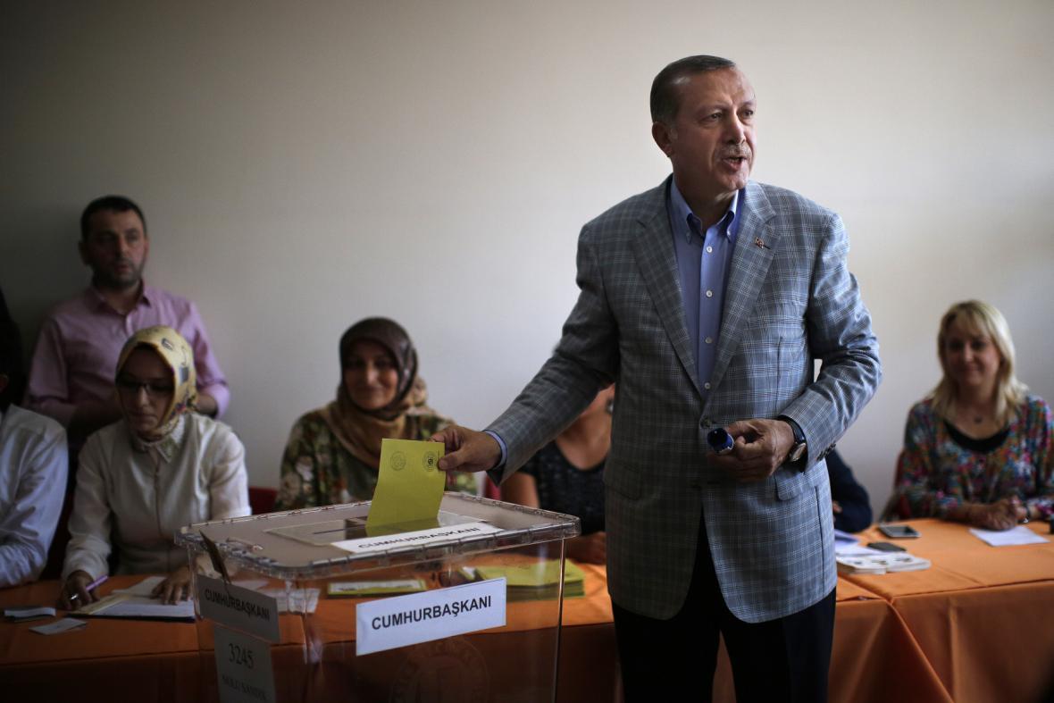Vítěz voleb - Recep Tayyip Erdogan