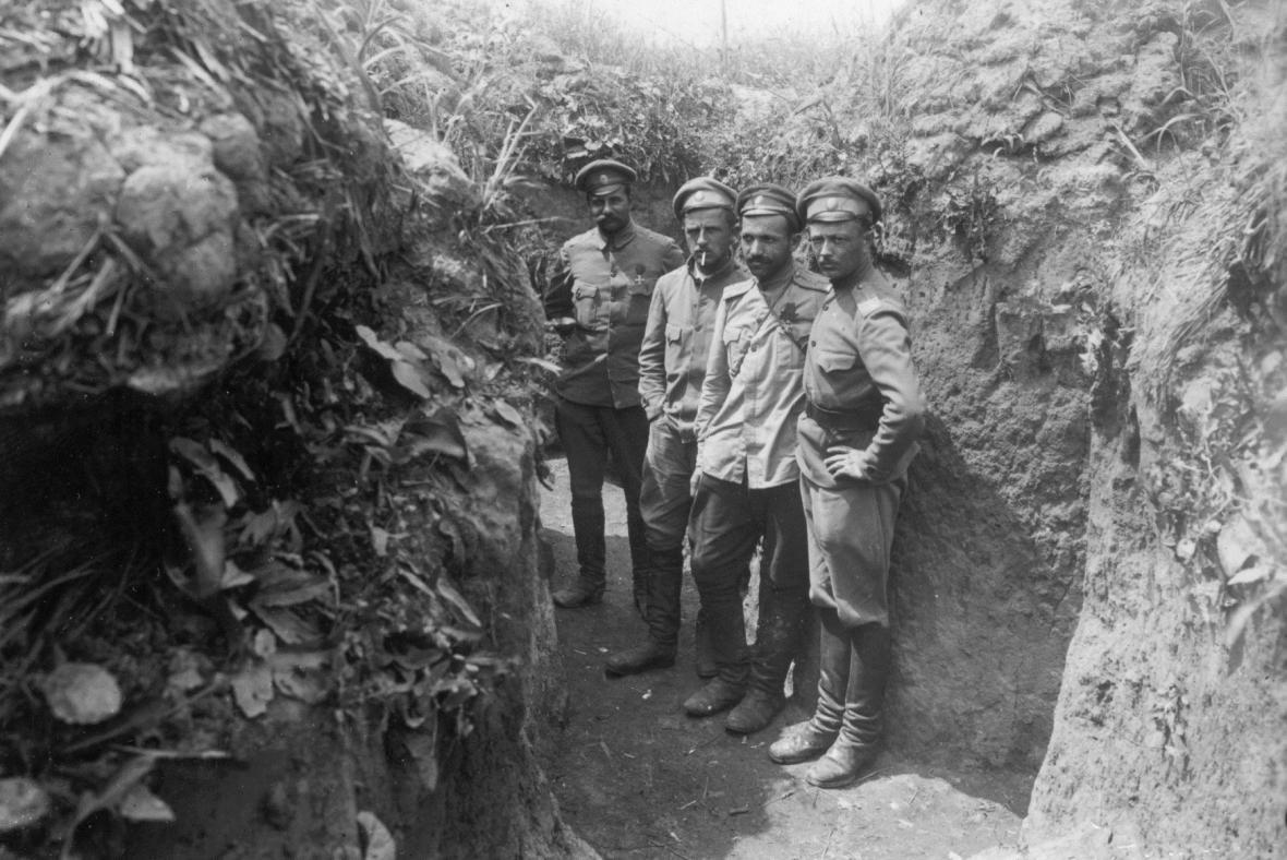 1. světová válka - čs. legionáři v zákopech