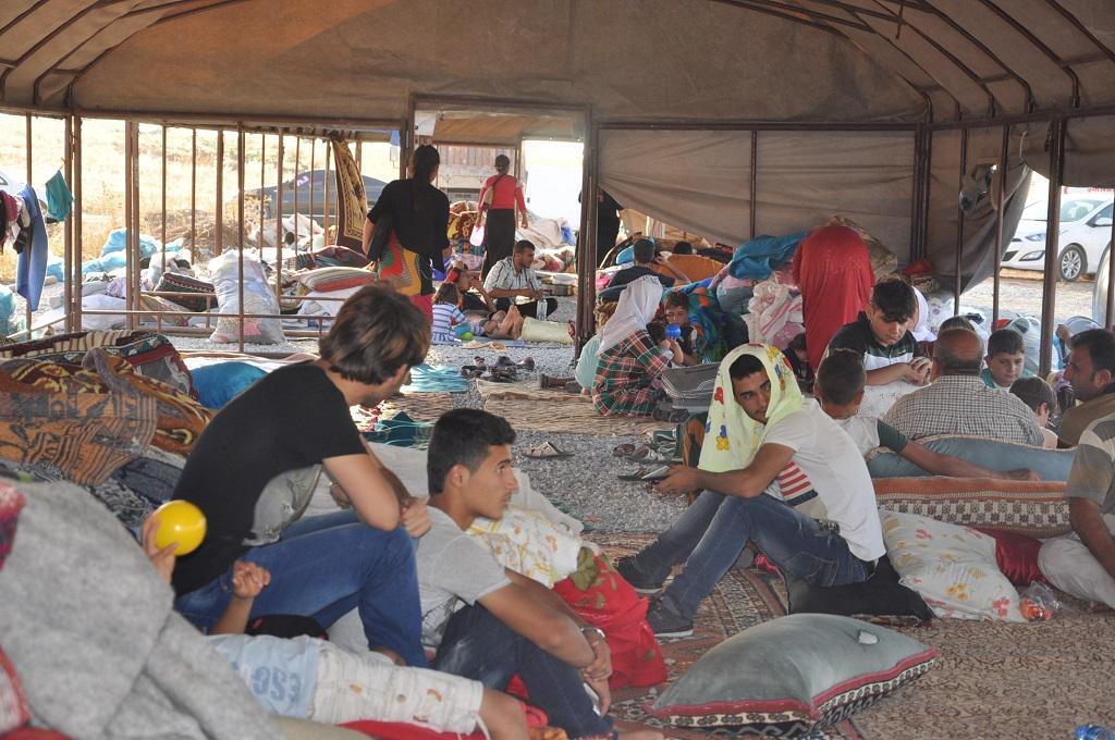 Jezídové v utečeneckém táboře v tureckém Sirnaku
